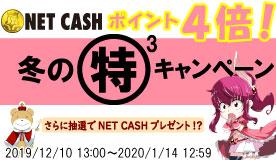 NETCASH 冬のマル特(×3)キャンペーン