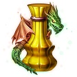 光り輝くドラゴンの研磨剤 1個
