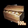 怪しい金庫 100個(変身刻印書:高級/特級/伝説 1個つき)